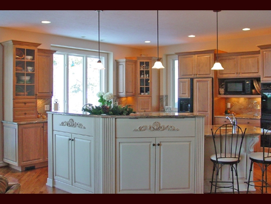 Mixed finish kitchens Kitchen design mixed cabinets